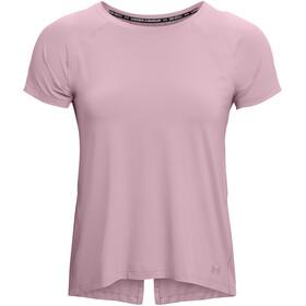 Under Armour Isochill Run 200 Short Sleeve Shirt Women mauve pink